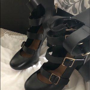 Chloe Tuscan calf black pumps size 37